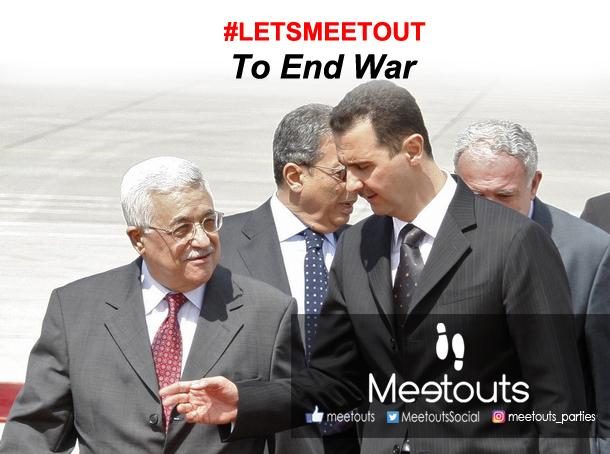 Syria's President Bashar al-Assad  welcomes Palestinian President Mahmoud Abbas at Damascus airport
